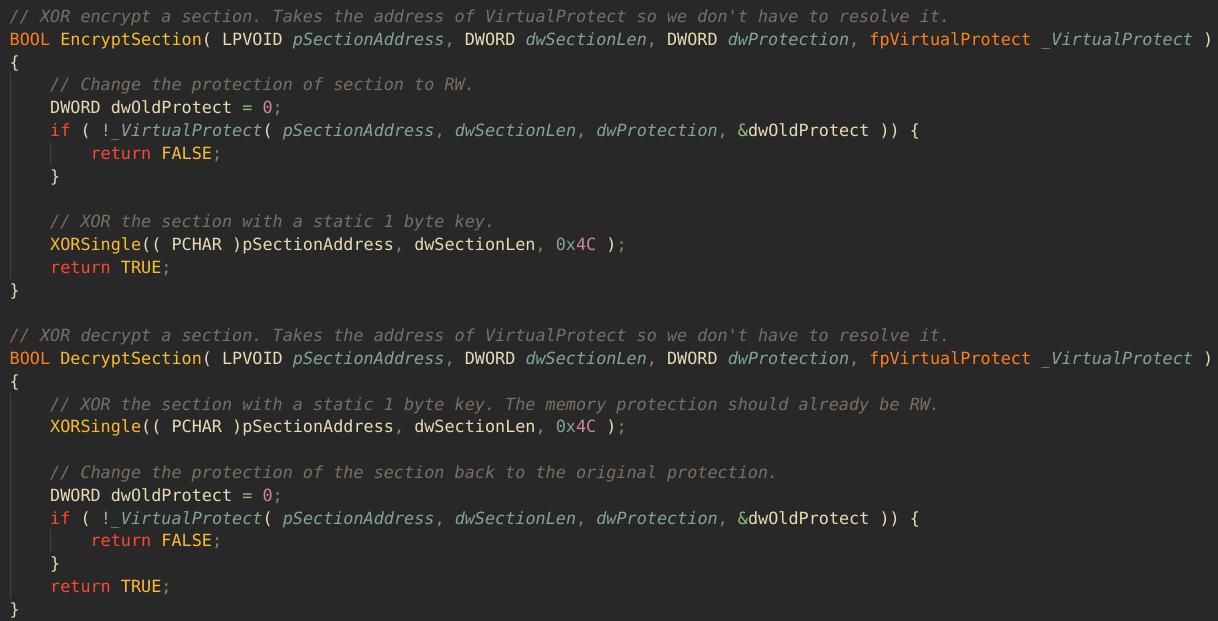 Encrypt/decrypt functions in run.c