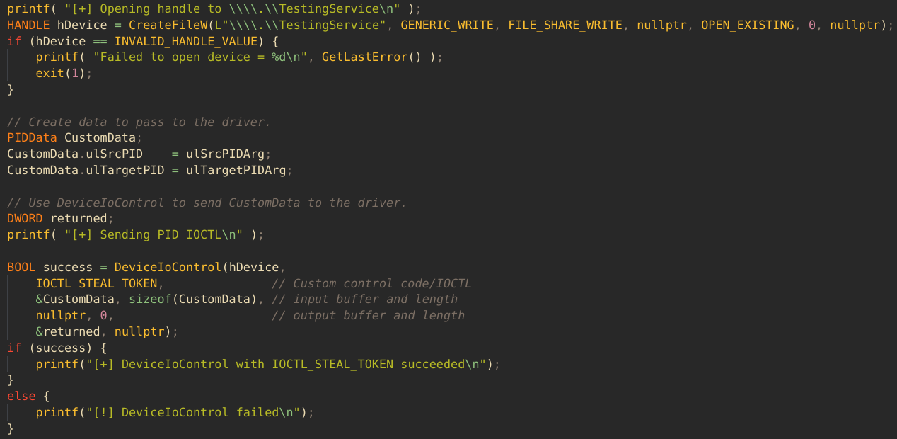 User Mode Code